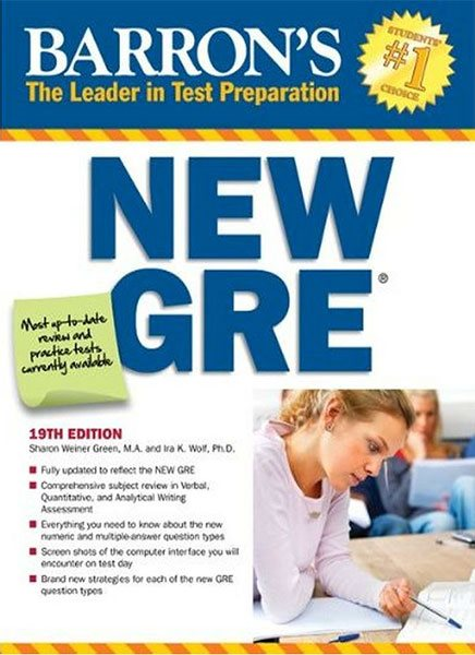 کتاب Barrons New GRE 19th Edition