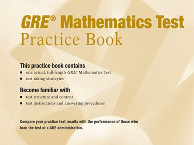 کتاب Practice Book GRE Mathematics Test