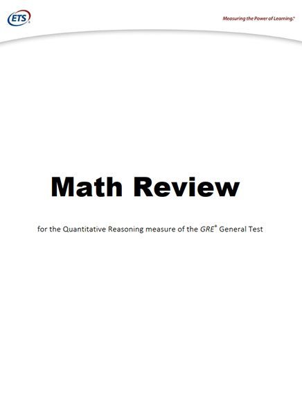 کتاب ETS GRE Math Review 2017