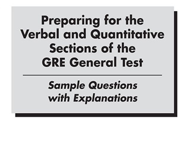 کتاب Verbal and Quantitative GRE General Test