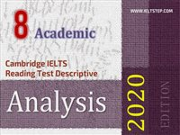 Cambridge IELTS Reading Test Descriptive Analysis 8